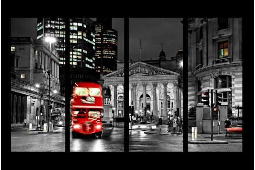 Модульная картина Автобус Англия