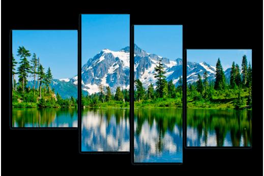 Модульная картина Гора у Озера