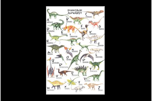 Картина Динозавры алфавит