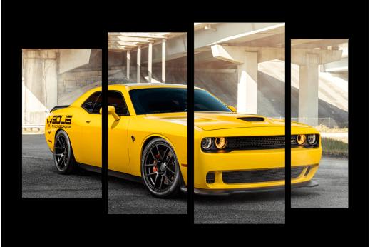 Модульная картина Dodge Challenger