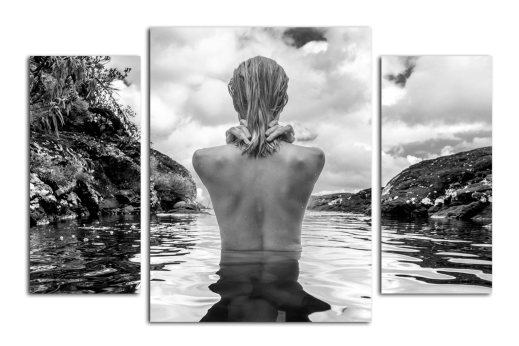 Модульная картина Девушка в воде