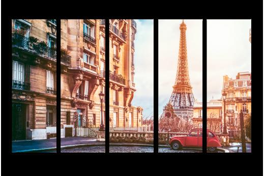 Модульная картина Парижские улочки